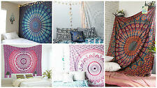 Indian Mandala Bedding Bedspread Hippie Bohemian Single Wall Hanging Tapestry