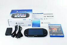 Sony PS Vita Black PCH-2000 + MINECRAFT w/ Charger and Box Japan [Excellent]