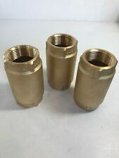 "1"" Brass Springed Check Valves (lot of 3). New. Never Used!"