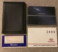 2008 Kia Sorento Owners Manual With Case OEM Free Shipping