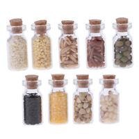 1/12 Puppenhaus Miniatur Küchenzubehör Glas mit Trockenfutter Dekor
