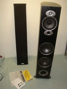 POLK RTI A7 FLOORSTANDING TOWER SPEAKER SINGLE BLACK PARTS/REPAIR -READ!