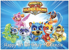 Paw Patrol Mighty Pups Personalised Cake Topper Edible Wafer Paper A4 size