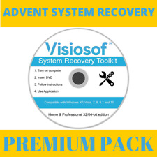 ADVENT System Recovery Boot Repair Restore CD DVD Windows 10 8 7 Vista XP