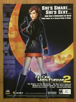 No One Lives Forever 2 PC 2002 Vintage Print Ad/Poster Official Big Box Promo