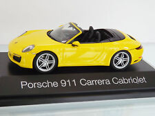 Herpa 071024 1:43 - PORSCHE 911 Carrera Convertible 991 II, RACING AMARILLO