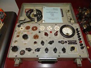 Military TV-7B/U Vintage Tube Tester, Dan Nelson Calibration, Restoration