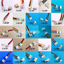 10 SETS Mini Micro JST 1.25 1.0MM PH2.0 2,54MM Stecker Stecker mit Drähten Kabel