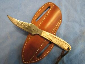 Handmade Knife. Pine Ridge (Mark Stewart) Small Utility Unused. Excellent