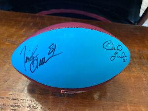 Tim Brown Bob Sanders Signed Mini Football Psa Dna Coa Raiders Colts Autographed