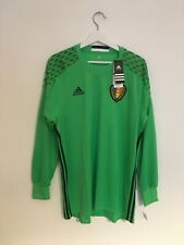 BNWT Belgium Green Adidas Home Long Sleeve Goalkeeper GK Shirt Size Adult Large