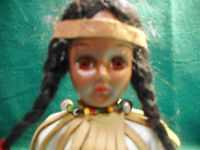 Vintage Standard Doll Co. Native American Doll With Stand.