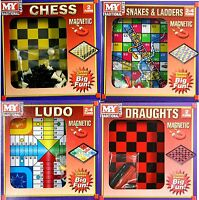 New Magnetic Travel Board Games  Chess Ludo Snakes and Ladders Draughts Game