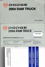 DODGE 2004 RAM TRUCK 2500 Complete Factory Owners Manual