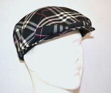 Burberry Golf Men's Flat Cap Hat Black Nova Check VGC