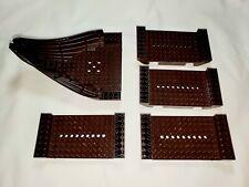LEGO 7048 Troll Warship Boat Hull Pieces (Dark Brown)