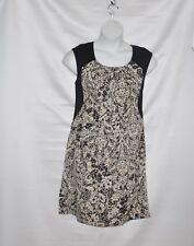 Styled by Joe Zee Printed Dress Size S Black /Brown