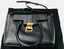 Versace Collection Woman HAND BAG VITELLO STAMPA ALCE - BLACK - BRAND NEW($710)