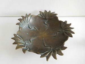 alte Bronze Schale Jugendstil Art Deco 1210 g