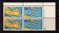 US USA Sc# 1938a MNH FVF PL# BLOCK Virginia Capes Map Yorktown Ships