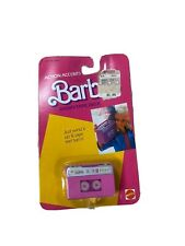Mattel 1986 Barbie Action Accents Wind Up Radio Tape Deck NEW Boom Box Accessory
