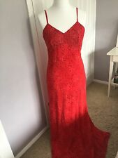 Elinette Size 38 Long Evening Dress, Red