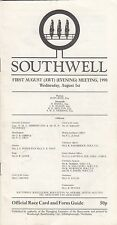 Racecard - Southwell 6th May 1991 May Day Meeting Autographed