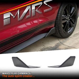 MARS Matt Black Side Skirts Splitters Lip Spoiler for Ford Mustang FM FN 2015+
