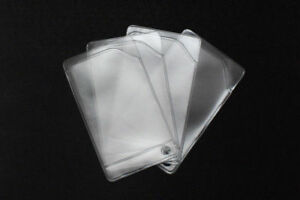 Flexible vinyl card holder sleeve, clear credit card protector, - 20 sleeves