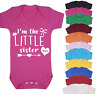I'm the Little Sister Baby Vest Babygrow Bodysuit Gifts Baby Shower Gifts