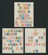 CAPE VERDE STAMPS 1877-1922 3 PAGES, INC 1886 SET, 1902 PROVISIONALS, REPUBLICA