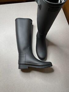 Hunter Women's Original Tall Matte Waterproof Rain Boots - Black Womens Size 8
