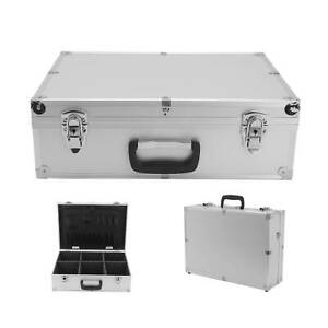 Professional Aluminium Lockable Tool Storage Box Flight Trolley Case 46x34x15cm