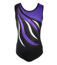 Cristaux de Gymnastique Justaucorps. Gym Danse Costume. strass Body Costume. 9-10 ans. UK