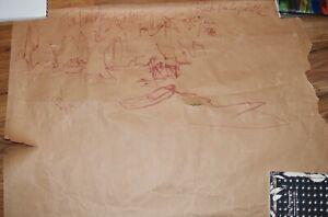 "George Rodrigue Original Drawing ""Lachu Par La Patutte"" Signed, Dated, Titled"