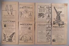 Meccano Toys PRINT AD - LOT of  4 Ads from 1922 & 1923 ~~ erector toy set