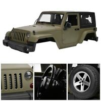 Green Model Car Body Shell for Jeep Wrangler 90046 1/10 SCX10 RC Truck F