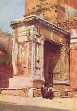 ROME. Silversmiths Arch, Velabrum 1905 old antique vintage print picture