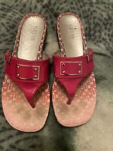 Guess Hot Pink Sandals Size 8