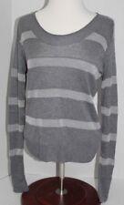Martin & Osa Women's Sweater Size S Silver-Grey Scoop Neck Silk Blend Sparkles