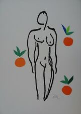Henri MATISSE : Nu aux oranges, Lithographie signée en couleurs # RARE # RIVES