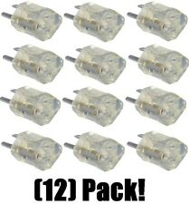 (12)  09907ME NEMA 515P 15A Clear Lighted End Electrical Plug Grounding Adapters