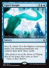 Mtg UGINS INSIGHT Battle for Zendikar rare  Magic the Gathering card