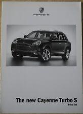 Porsche, The New Cayenne Turbo S, (2006) Price list