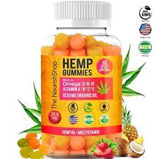 Hemp Gummies for Anxiety & Stress| Hemp Oil Gummy Vitamin - Omega 3-6-9(1530MG)