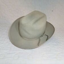 VTG RESISTOL SELF CONFORMING HAT 2X BEAVER XX 6 7/8 WORN DISTRESSED STETSON GRAY