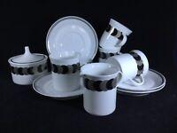 Rosenthal Studio Linie - Silver, Black & White - 11 Piece Coffee Service