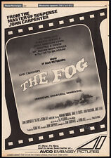 THE FOG__Original 1979 Trade print AD promo / poster__JOHN CARPENTER_1980 horror