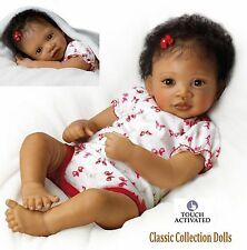 "Ashton Drake ""SWEET BUTTERFLY KISSES""- INTERACTIVE LIFELIKE BABY GIRL DOLL - NEW"
