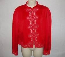 Vtg 2 Pc Lily Of France Silky Satin Pockets Sexy Lavish Lace Pajama Set S To M